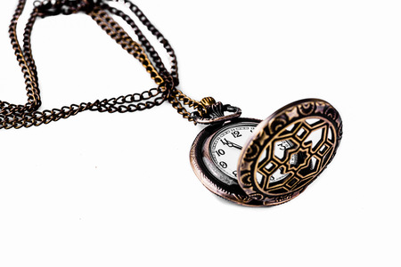 Pocket watch on white  photo