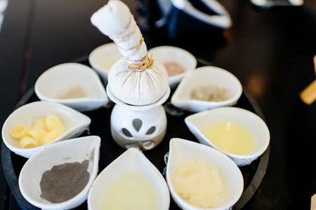 herbal massage ball: Herbal massage ball and spa herb  Stock Photo