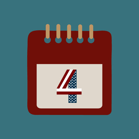 Calendar for Independence Day Vector