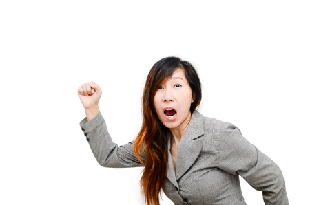 business woman  running sideways, body part. photo