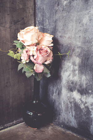 bouquet of roses at the corner photo
