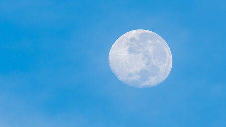 Full moon in the morning. photo