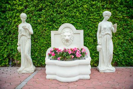 fountainhead: A fountainhead covered with plants, Hua Hin, Thailand.  Italian style.