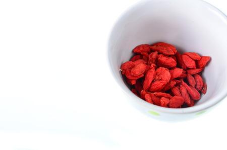 lycium: red dried goji berries ( Lycium Barbarum , wolfberry )