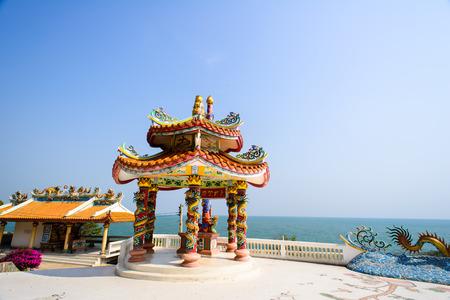 hua hin: Traditional chinese  pavilion with sunny day, Hua Hin, Thailand