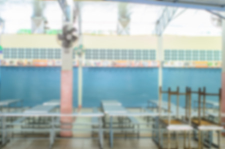 tha: Abstract blur background of School canteen.