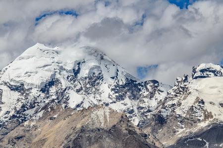 kasha: Close up Himalaya Mountain from Kasha monastery, Padum, India.