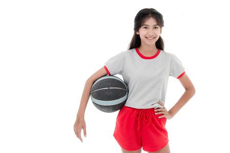 female soccer: Female soccer player on white Stock Photo