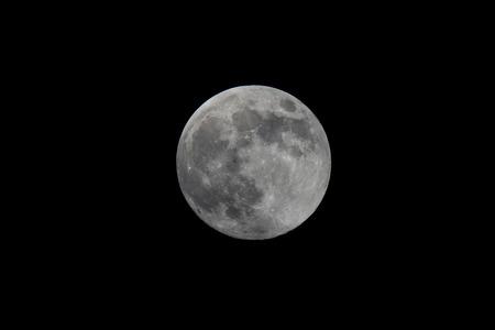 waning moon: Full moon. Stock Photo