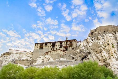 gompa: Dhankar gompa. Spiti Valley, Himachal Pradesh, India Stock Photo