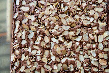 brownie: Homemade brownie.