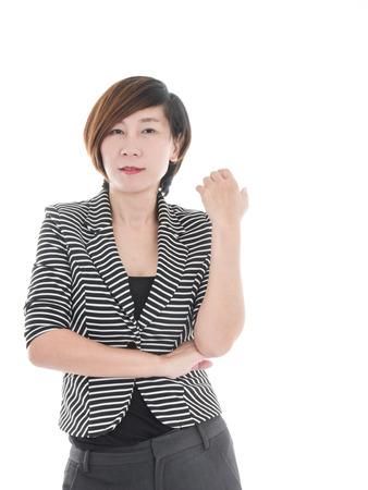 mujer sola: mujer de negocios asiático elegante