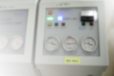 blood transfer: Blurry background Mechanical ventilation equipment