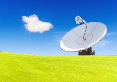 radio telescope: Blurry background radio telescope is a form of directional radio antenna used in radio astronomy.