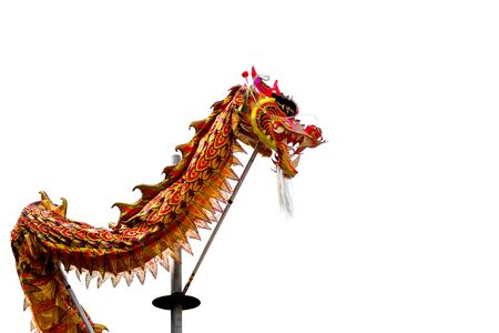 snake calendar: Chinese dragon during the Year of the lunar snake a traditional Chinese holiday, on white background