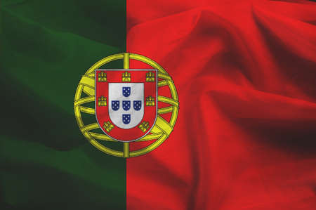portugese: Flag of Portugal Stock Photo