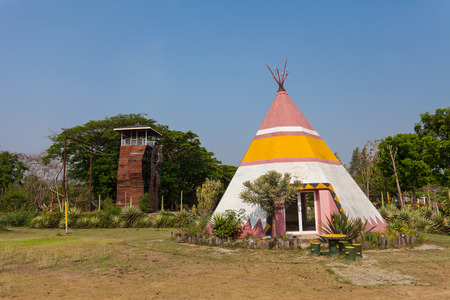 teepee: A teepee, conical tent