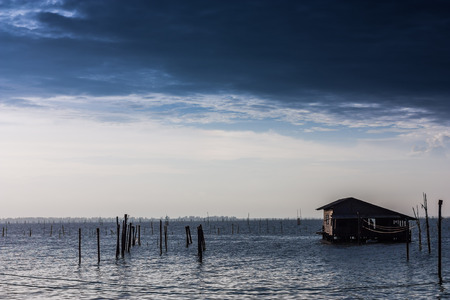 Villas in the middle of the Songkhla Lake Ko yo photo