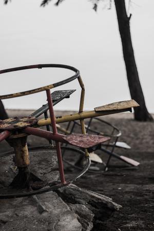 arme kinder: Die armen Kinder hatten kein Karussell wieder zu spielen, und es