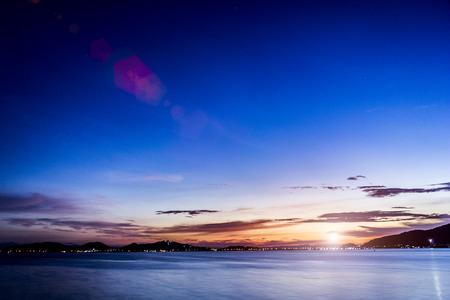 lake sunset: The beauty of the sunset Lake Songkhla.