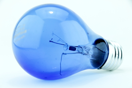 electric bulb: Coil breaks damaged cannot will light again. Stock Photo
