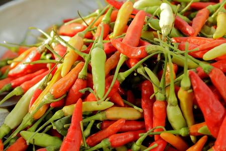 spicy food: Thailand s popular spicy chili . And the component Thailand many food Stock Photo