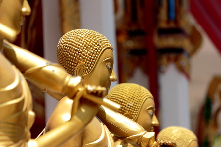justified: The traditional art And practices of monks to sculptures but justified Stock Photo