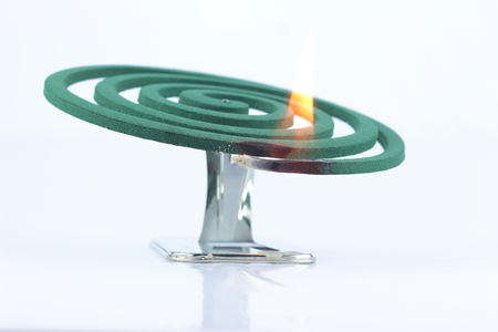 mozzie: Mosquito repellent coil used on fire
