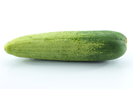 purchased: Cucumbers are vegetables purchased at the marke Stock Photo