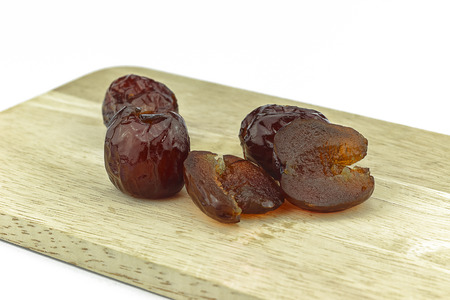 Chinese jujube sweet on a wood cutting board Reklamní fotografie