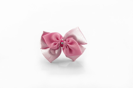 hair bow: hair bow on white back ground Stock Photo