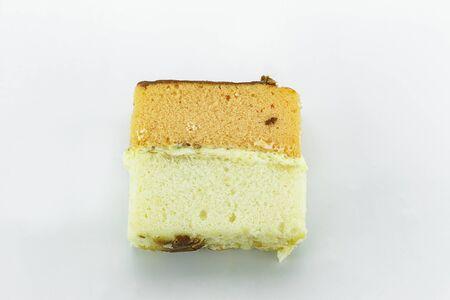 orange cake: orange cake on white background