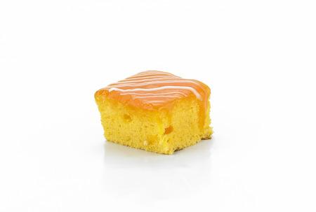 orange cake: Mini orange cake on white background
