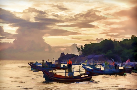 fishing vessel: Paintings, landscapes and livelihoods of fishing vessel