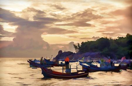 livelihoods: Paintings, landscapes and livelihoods of fishing vessel