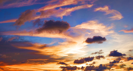 illustcourse panorama sky and cloud sunset Stock Photo