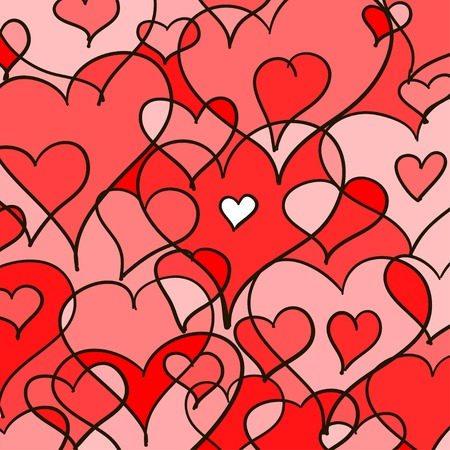 hearted: Abstract doodle hearted background. Vector art EPS 10