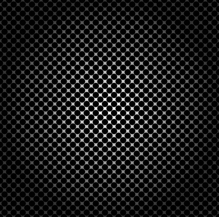 mechanical radiator: Seamless pattern, metal grid with round holes Illustration