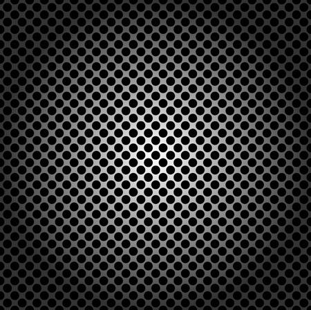 ebon: Patr�n sin fisuras, rejilla de metal con agujeros redondos Vectores