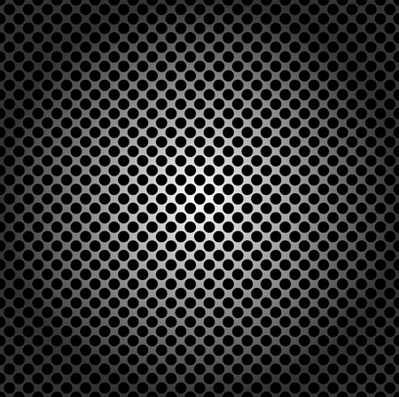 metal grid: Seamless pattern, metal grid with round holes Illustration