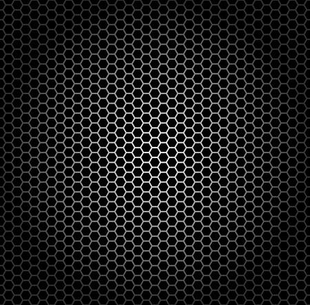 ebon: Modelo incons�til, rejilla met�lica con agujeros hexagonales