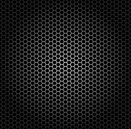 Seamless pattern, metal grid with hexagonal holes