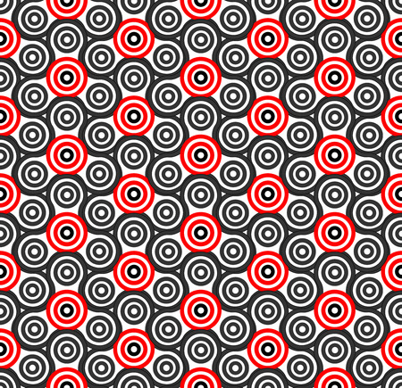 cross linked: Seamless circle pattern. Abstract background. Vector art Illustration