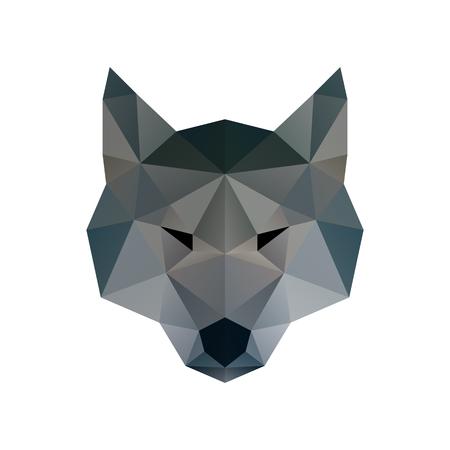 Illustrazione bassa poli. Testa del lupo. Arte poligonale Archivio Fotografico - 68870947