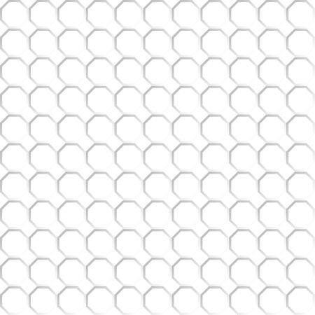 Seamless pattern del bianco rete ottagono. Sfondo trasparente. EPS 10. Archivio Fotografico - 71188329