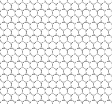 perforation texture: Seamless pattern of the white octagon net. Transparent background.