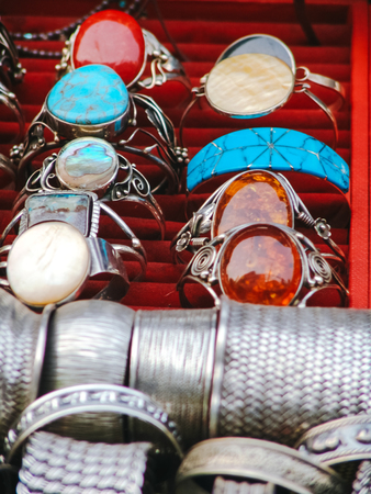 trashy: Beautiful Jewelry on street market in Asia