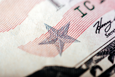Macro photograph of a fifty dollar bill Stock fotó