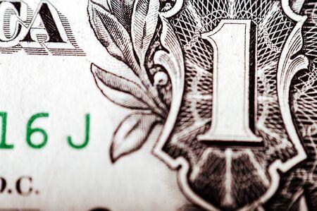 stockmarket: Macro photograph of a one dollar bill