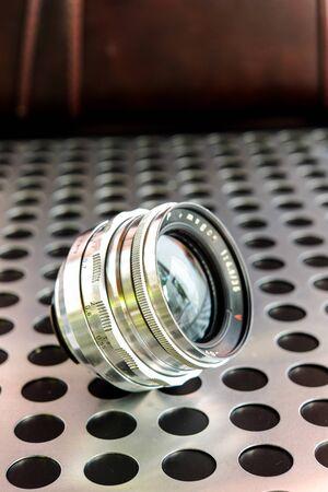 arte optico: Vintage wide angle manual focus photographic camera lens SLR